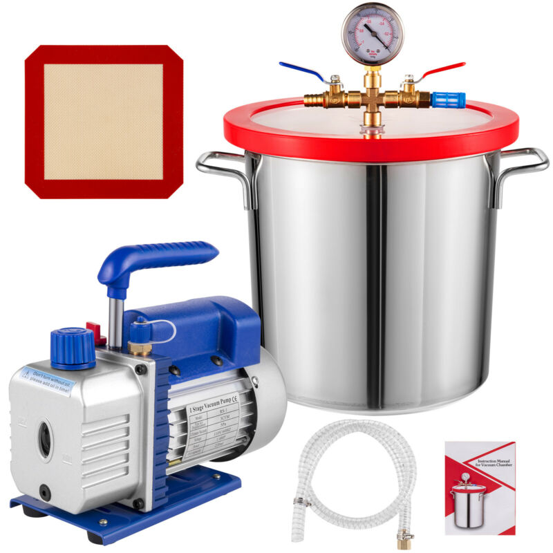 3 Gallon Vacuum Chamber and 3 CFM Single Stage Pump to Degassing Silicone Kit
