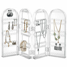 Beautify Earring Holder Clear Stand Jewellery Travel Foldable Display Organiser