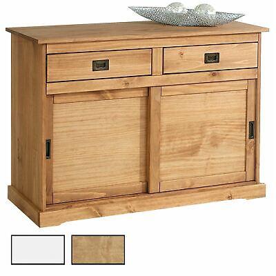 Anrichte Sideboard Kommode Holzkommode 2 Schiebetüren 2 Schubladen Kiefer massiv