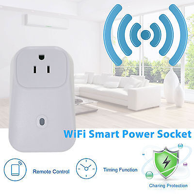 Wifi Mobile Cell Phone Wireless Remote Control Timer Smart Power Socket US Plug