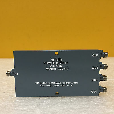 Narda 4324-4 2 To 8 Ghz 18 Db 1.351.451 Vswr Sma F 4 Way Power Divider