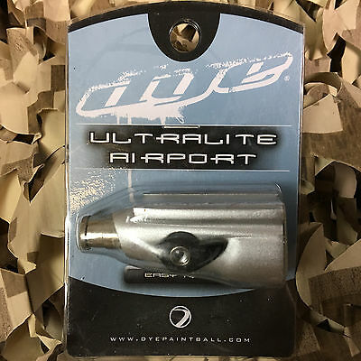 NEW Dye UL Ultralite Airport On/Off ASA Air Source Adapter - Dust Clear Silver