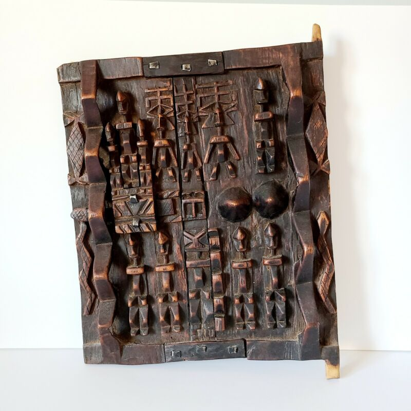 African Dogon Carved Wood Granary Door Dogan Tribe Mali MaRepublic