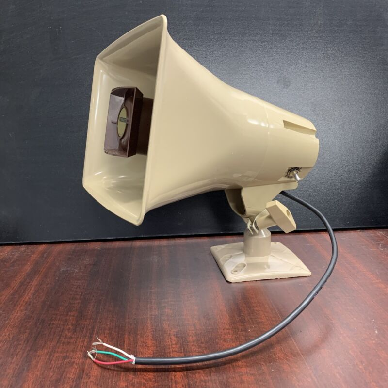 Valcom High Efficiency Amplified Horn Speaker 5-Watt Weather Resistant Beige