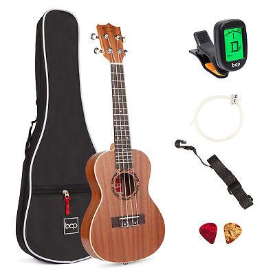 BCP 23in Acoustic Concert Sapele Ukulele Starter Kit w/ Gig Bag, Strap, Tuner, usado comprar usado  Enviando para Brazil