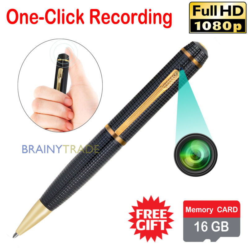 16GB HD 1080P Portable Spy REC PEN Voice Recorder Hidden Security Video Camera