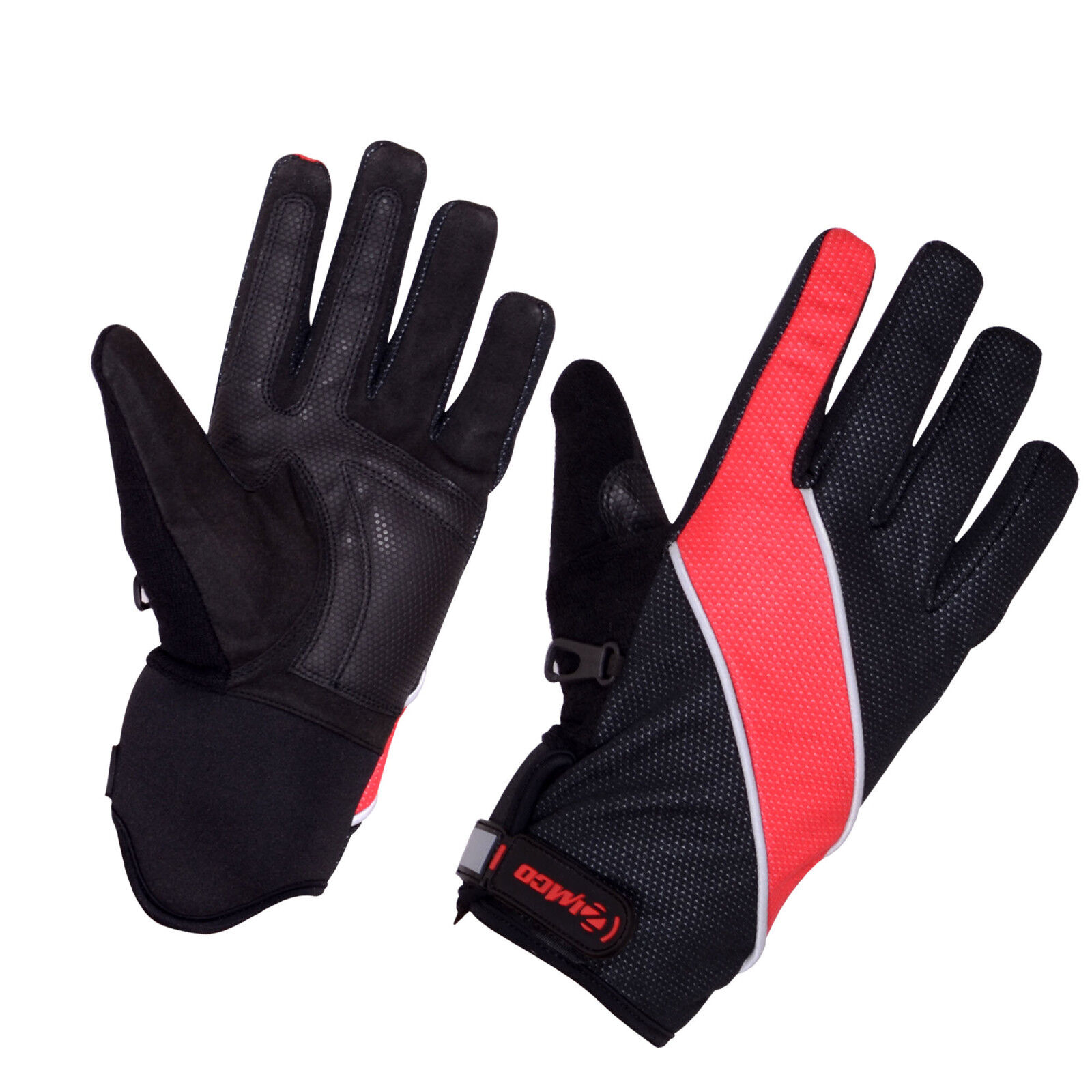 Zimco Windbreak Cycling Gloves Winter Cycle Windproof Gloves Mitts High Red