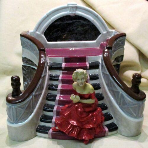 """Marilyn Monroe Grand Staircase Cookie Jar Ceramic Box, 2002, 962/2400, 10"""" Wide"""