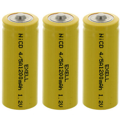 15-PACK Exell C Size 1.2V 3000mAh NiCD Button Top Rechargeable Battery for medical instruments//equipment radio controlled devices electric tools toothbrushes electric razors