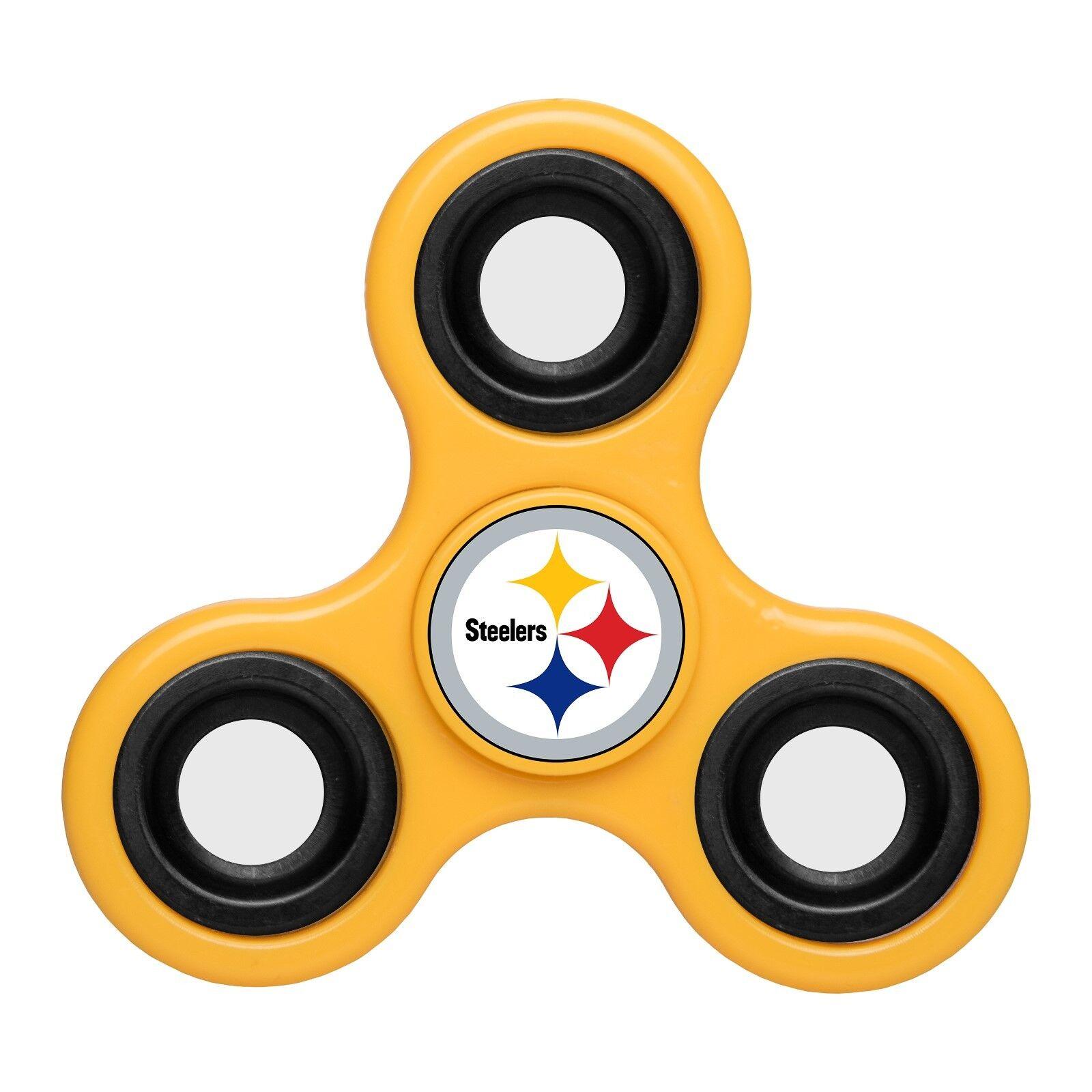 NFL Team Logo 3 Three Way Diztracto Fidget Hand Spinners - Pick Team - IN STOCK