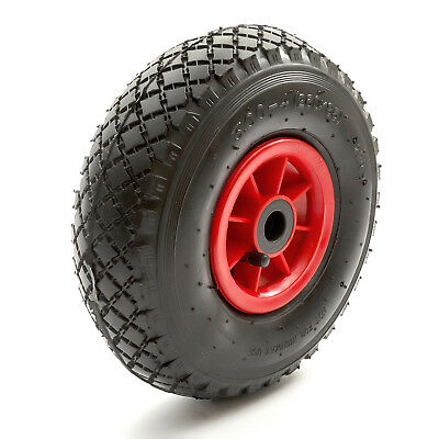 "10"" Heavy Duty Pneumatic Sack Truck Wheel Barrow Tyre Bent Schradar Valve"