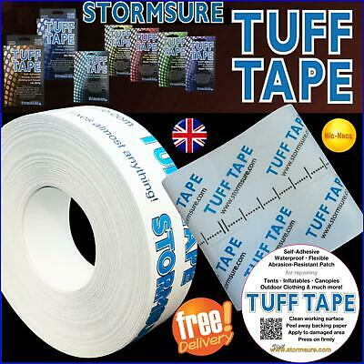 TUFF Tape self-adhesive transparent repair strips patches clothing tents bivvies