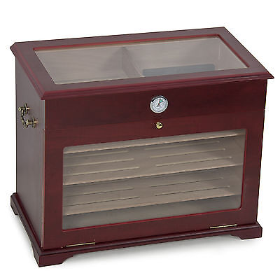 400ct Display Show Case Cigar Humidor Cabinet / Chest / Cigarette Box