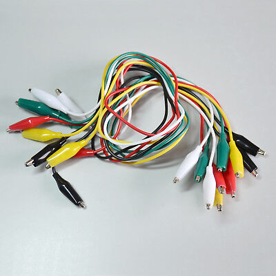Double Ended Test Leads Alligator Crocodile Clip Jumper Wire Cable