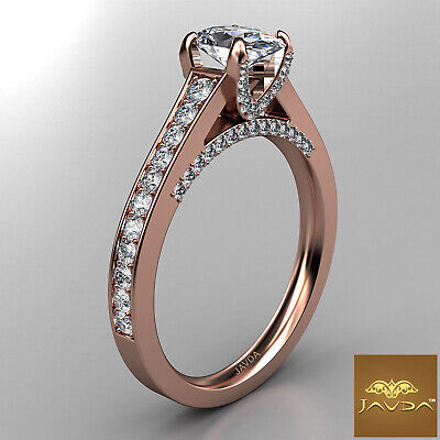 Bridge Accent Oval Diamond Engagement Cathedral Ring GIA Certified F VVS1 1.25Ct 10