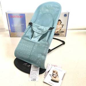 1890c17dbde AS NEW Baby Bjorn Bouncer Balance Soft Mesh Turquoise Blue in Box ...