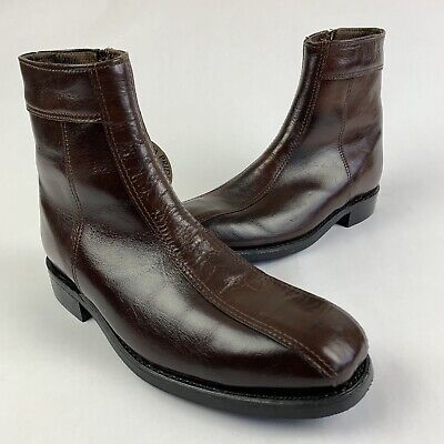 Sonora Double H West Men's 7.5 EEE Work Boots Brown Leather Safety Toe