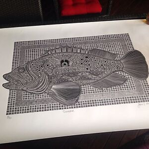 Torres Strait Lino print Redlynch Cairns City Preview