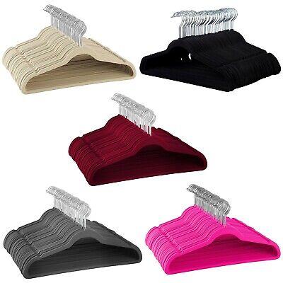 Non-Slip Velvet Hangers - Suit Hangers, Ultra Thin Space saving Durable - Vintage Velvet Suit