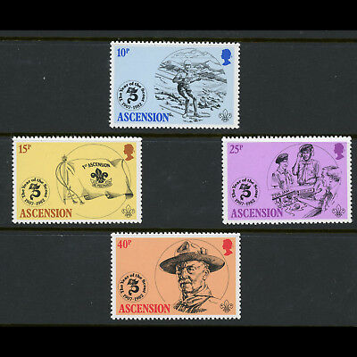 ASCENSION ISLAND. 1982 Scout. SG 309-312. Mint Never Hinged (AX005)