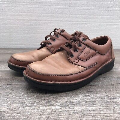 CLARKS Men's Active Air 36279 Brown Tan Leather Lace Up Oxford Shoes Size 9.5
