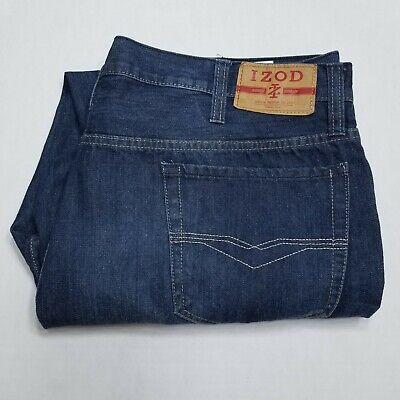 Izod Denim Jeans Dark wash Relaxed Fit 44x30 Izod-denim