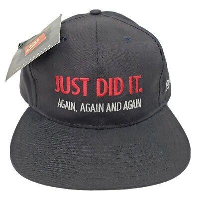 VTG Nike 1993 Chicago Bulls Championship Snapback Hat Champion Just Did It Again