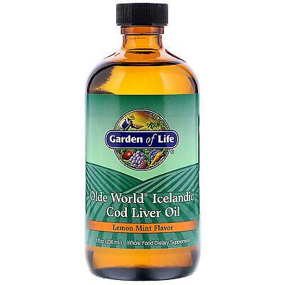 Garden of Life  Olde World Icelandic Cod Liver Oil  Lemon Mint Flavor  8 fl oz ()