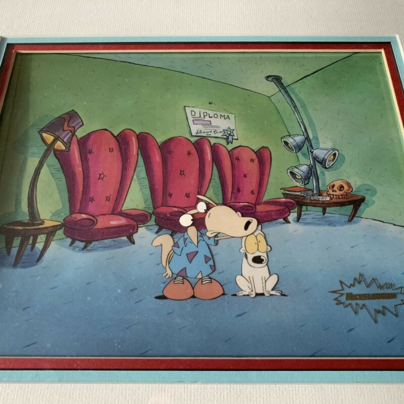 ANIMATION CELL, ROCKO'S MODERN LIFE, GALLERY MATTED/FRAMED, AUTHENTIC.