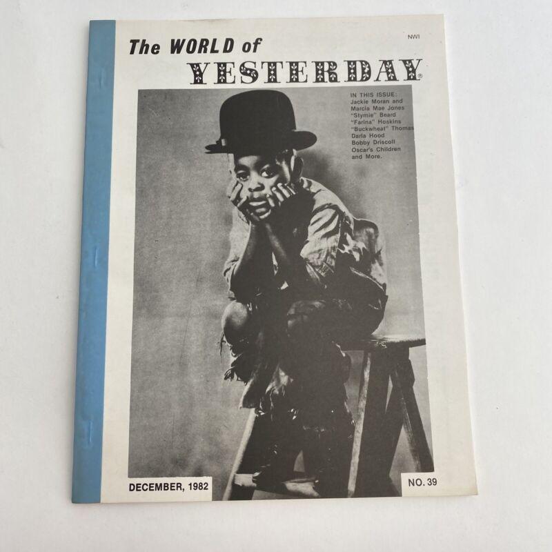The World Of Yesterday Magazine Fanzine Film Movie 1982 Stymie Little Rascals