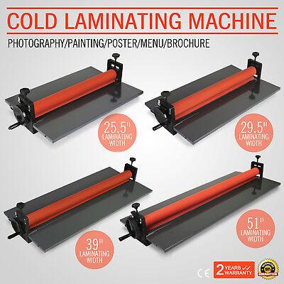Cold Laminator Manual Roll Laminator Vinyl Photo Film Laminating 25.5--51in