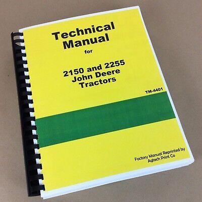 Technical Service Manual For John Deere 2150 2255 Tractor Repair Shop Workshop