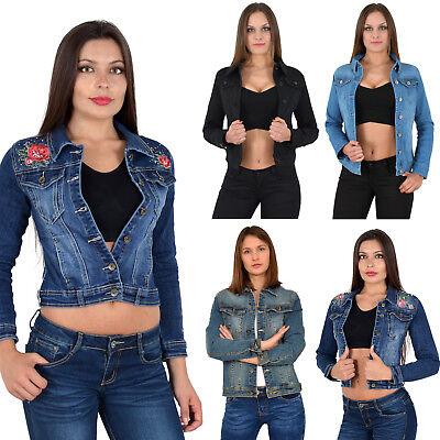 Schwarzer Bolero (Damen Jeansjacke Jeans Jacke Damenjacke Bolero kurz schwarz blau Top Modelle M03)