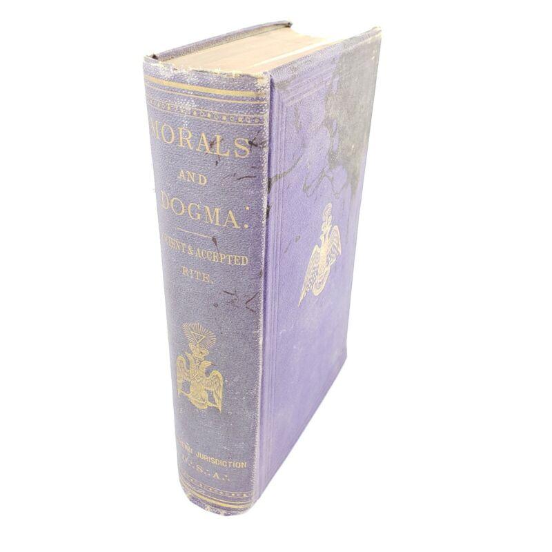 1871 Very Rare First Edition Morals and Dogma of Freemasonry - Original Cloth