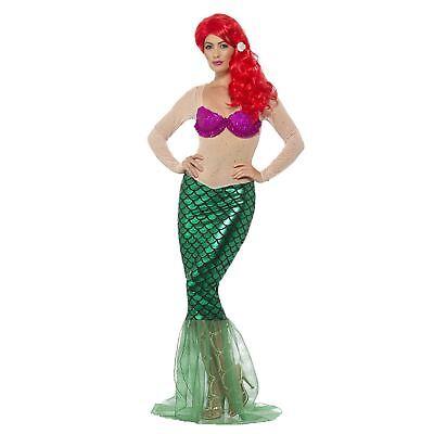 Kleiner Grüner Meerjungfrau Erwachsene Damen Kostüm Verkleidung ()