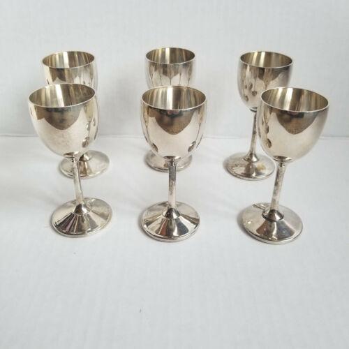 Set of 6 BRIDALANE Spain EPB Aperitif Wine Mini Goblets / Glass / Cup, 1oz 3.5in
