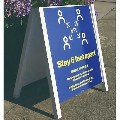 24x36 Outdoor Sidewalk Metal A-frame Sign Double Sided Display