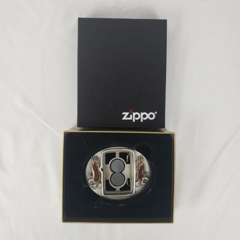 Vintage Siskiyou Zippo Enamel Eagle Zippo Holder Display Belt Buckle New In Box