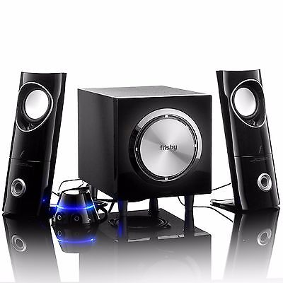 Frisby FS-2200 2.1 Ch Speaker Multimedia System w/ Remote Control for Desktops