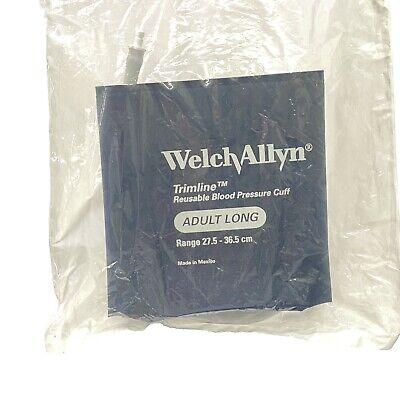 Welch Allyn 901043 Trim Line Adult Long Blood Pressure Cuff Reusable 27.5-36.5
