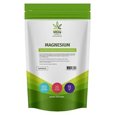 Magnesium Citrate 90 Vegan Capsules | Muscle Function Fatigue Tiredness Pills