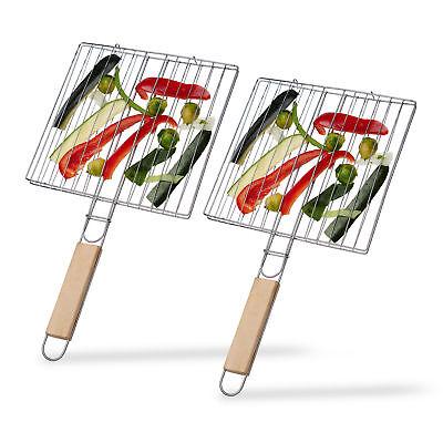 2er Set Burger Grillwender Fleischwender Gemüsewender Wendebräter Grillguthalter