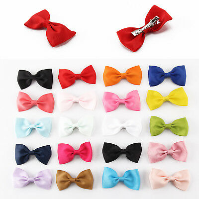 20PCS Handmade Bow Hair Clip Alligator Clips Girls Ribbon Kids Sides Boutique