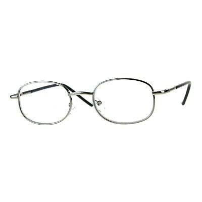 Clear Lens Glasses With Bifocal Reading Lens Small Oval Frame Spring (Clear Glasses With Reading Bifocal)
