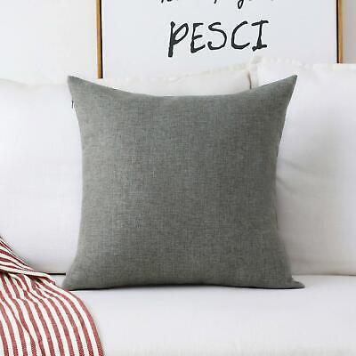 Home Brilliant Decorative Linen Square Throw Pillow Cases