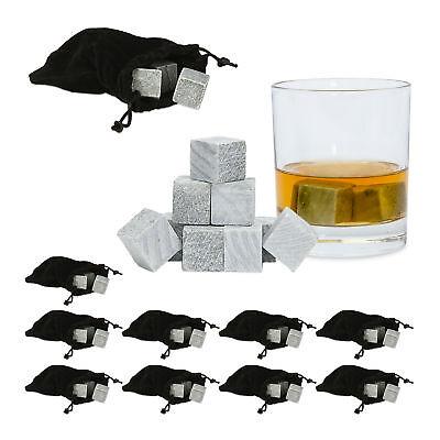 90 x Whisky Steine mit Beutel, Whisky Eiswürfel, Whisky Kühlsteine,