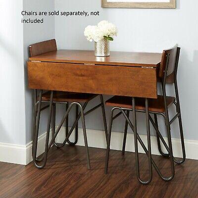 """Space Saver Drop Leaf Table Hairpin Leg 36"""" Kitchen Dining Furniture Apt Folding"""