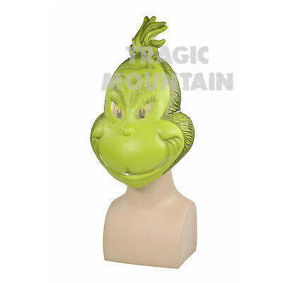 Licensed Dr Seuss How the GRINCH STOLE Christmas Costume MASK - Dr Seuss Masks