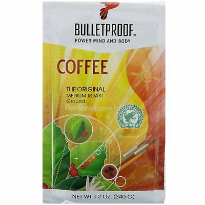 BULLETPROOF COFFEE Archetypal MEDIUM ROAST GROUND MIND & BODY DIETARY SUPPORT