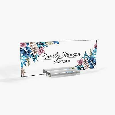 Desk Name Plate Modern Office Decor Graduation Gift For Her Name Badge Tag N